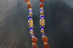 Heilige geomertrie*Sri Yantra*Gebetskette*Meditation*Rudraksha Samen*Yoga jewelry*Buddha*Swarovski kristalle*Messing*mala*Sacred design von MoONAmasteWithLove auf Etsy