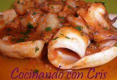 Cocinando con Cris: Calamares con gambas y salsa de tomate para Dukan