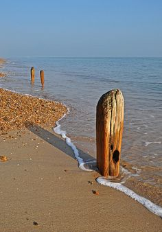 - We had a nice walk along the beach and around Southsea today, I spotted these groins (I think they are groins) and love the way they have been eroded by the waves. Seaside Beach, Sunny Beach, Ocean Beach, Cottages By The Sea, Beach Cottages, Beautiful Islands, Beautiful Beaches, Sea Poems, Rivage