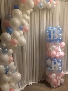 ▷ 1001 + gender reveal ideas for the most important party in your life – Baby shower Gender Reveal Balloons, Gender Reveal Party Decorations, Baby Gender Reveal Party, Gender Party, Baby Reveal Party Ideas, Idee Baby Shower, Shower Bebe, Baby Shower Themes, Baby Boy Shower