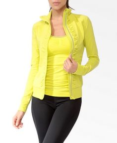 Neon Zipper Athletic Jacket