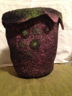 Felted pot by faglar on Etsy