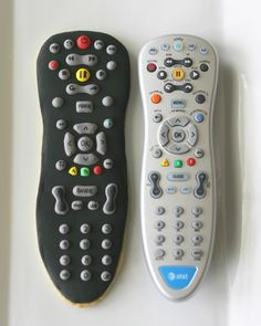 """(The one on the left is a COOKIE!) What a fun Father's Day Gift- give him the """"remote"""" for the day! Love it!"""