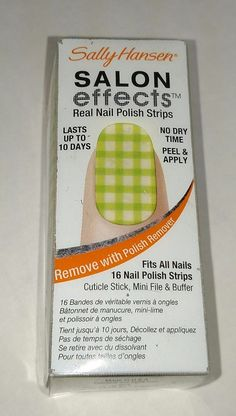 Sally Hansen Salon Effects Nail Polish Strips - Checker Out | eBay!