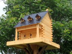 Log Cabin For Birds