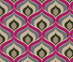 Retro Drops fabric by patternandco_com on Spoonflower - custom fabric