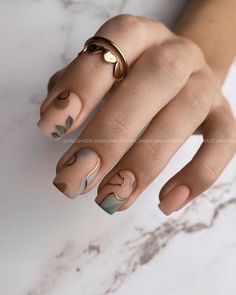 Minimalist Nails, Stylish Nails, Trendy Nails, Cute Acrylic Nails, Gel Nails, Short Square Nails, Funky Nails, Fire Nails, Neutral Nails