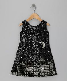 Little ladies shine like stars in the night sky when wearing this hand-beaded sequin dress that stretches for comfort and pulls on easily thanks to the half zipper on the back.