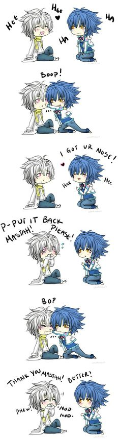 Clear and Aoba | Silly play | Cute drawing duh | DRAMAtical Murder☆