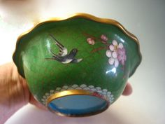 Sale was 65 Vintage cloisonné Chinese bowl bird by SusanSorrentino, $45.00