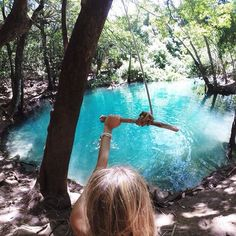 Can't believe I've never tried a rope swing! This looks like a perfect place to start