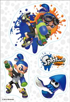 Splatoon - Clear Stickers: Inkling Boy