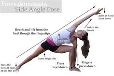 Side Angle Pose. One of my favorites. This pose gives a very powerful feeling.