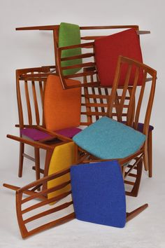 Chair Alba's rainbow of Bute Tweed chairs
