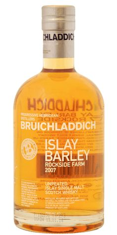 An uncharacteristic unpeated Whisky from the guys behind Octomore. Bruichladdich's Islay Barley is a 2007 vintage Scotch made from barley harvested in 2006 at Rockside Farm on Islay. This is triple distilled in the Bruichladdich style, to keep as much of the delicate flavours of the Whisky as possible - an incredibly smooth Whisky.