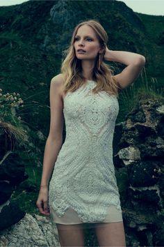 14c3fa2f3e93 BHLDN Loretta Shift Dress Vintage Inspired Wedding Dresses
