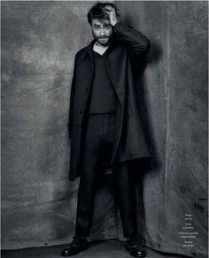 Daniel Radcliffe poses for photographer Michael Schwartz.