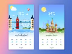 WeatherApp - Moscow & London