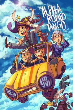 """""""Alpha Romeo Tango"""" is a collaborative artbook, celebrating the BBC Radio 4 sit-com """"Cabin Pressure"""", by John Finnemore.   The book links over 30 artists from a diverse range of styles, in 68 pages of full-colour art and short comics. Dimensions 26x17cm. Profits raised from sale of books will g..."""