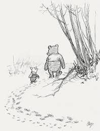 Image result for winnie the pooh original drawings snow