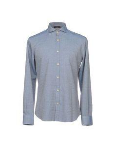 TONELLO Men's Shirt Slate blue 15 ¾ inches-neck