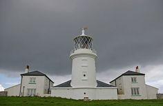 Caldey Island lighthouse, Wales, UK