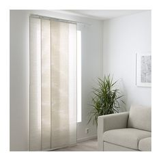 FÖNSTERVIVA Panel curtain IKEA A panel curtain is ideal to use in a layered window solution, to divide rooms or to cover open storage solutions.