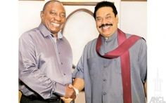 South Africa's Deputy President, Special Envoy to Sri Lanka and the Deputy President of the African National Congress Cyril Ramaphosa paid a courtesy call on President Mahinda Rajapaksa at Temple Trees last evening. Picture by Sudath Silva