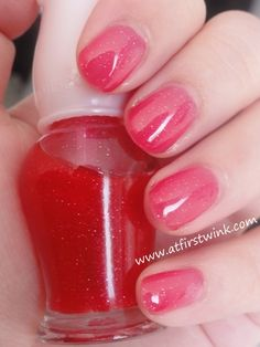 Etude House rd106 jelly pink glitter nails; Live your dream now, not later: Valentines day 2013 nails