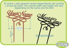 Cake topper con tu nombre / Cake topper with your name. -Pedidos/Inquiries to: crearcjs@gmail.com