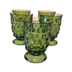 Vintage Emerald Green Cocktail Glasses - Set of 5 on Chairish.com