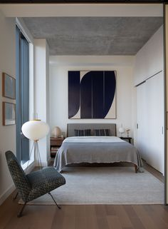 Tour a Serene Design Oasis Inspired by Japanese Modernism Designer Sandra Weingort and her client Joaquín Mollá had a symbiotic vision for this light-filled apartment on NYC's Lower East Side Architectural Digest, Living Room Decor, Bedroom Decor, Bedroom Ideas, Bedroom Signs, Decorating Bedrooms, Ikea Bedroom, Bedroom Inspiration, Artwork For Bedroom