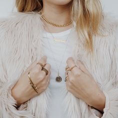 CONVERTIBLE ID BRACELET // ANTIQUE 24KT GOLD // Luv Aj #foraycollective