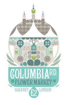 Columbia Road Flower Market  London  Large Digital by GraffikHeart, $20.00
