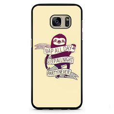 Sloth Nap All Day Phonecase Cover Case For Samsung Galaxy S3 Samsung Galaxy S4 Samsung Galaxy S5 Samsung Galaxy S6 Samsung Galaxy S7