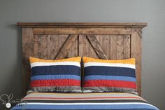 DIY Barn Door Headboard | 13 DIY Country Home Projects