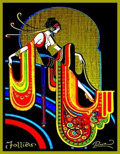 Example of Art Deco. The Art Deco aesthetic was incorporated into every aspect of modern day life from playing cards to fashion to ornamentation. Art Deco Illustration, Vintage Illustrations, Motif Art Deco, Art Deco Design, Art Deco Print, Design Design, Art Nouveau Pattern, Door Design, Jugendstil Design