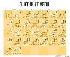 fab ab february and mad abs march-- now time for Tuff Butt April :)