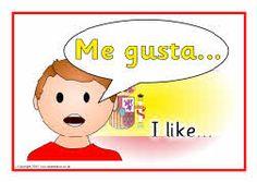 Spanish sentence starter posters (SB3469) - SparkleBox