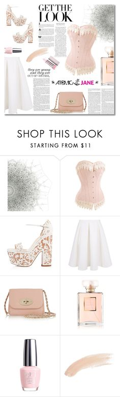 """""""Atomic Jane 19"""" by melodibrown ❤ liked on Polyvore featuring Christian Louboutin, Keepsake the Label, Mulberry, Chanel, OPI and Topshop"""