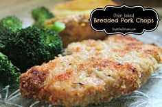 Oven baked Breaded Pork Chops  DaytoDayDreams.com
