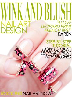 Leopard Print French Tips Nail Art Design (Preview)