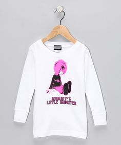 """White """"Mommy's Monster"""" Tee by Micro Me"""