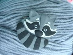 Брошка-енот))) - серый,бижутерия ручной работы,брошь ручной работы,брошка