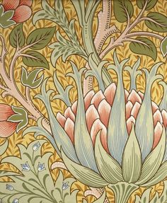 Artichoke by William Morris. Brooklyn Museum: Decorative Arts: Wallpaper Sample Book