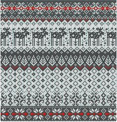 Risultati immagini per fair isle knitting free charts Fair Isle Knitting Patterns, Fair Isle Pattern, Knitting Charts, Knitting Stitches, Knitting Designs, Knitting Projects, Cross Stitch Embroidery, Cross Stitch Patterns, Fair Isle Chart