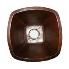 "Soleil 18"" x 18"" Single Bowl Copper Kitchen/Bar Sink"