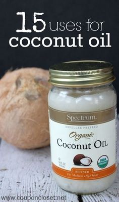 Coconut oil is good for you, but you can use it for MANY reasons that just eating. Here are 15 uses for coconut oil... many of them will save you money.