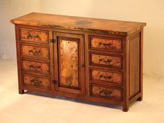 Francisco 1-Door/8-Drawer Buffet w/ Copper - SOLutions Mexico, The Most Trusted Furniture Dealer in Mexico