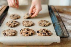 galletas de avena en un minuto- horneado